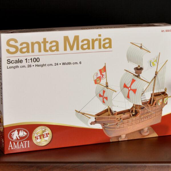 1. lépés Santa Maria hajómakett építőkészlet Amati