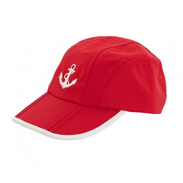 Baseball sapka piros, horgonyos Sapka, kalap