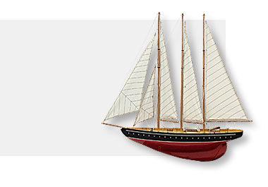 Kész vitorlás hajó makett