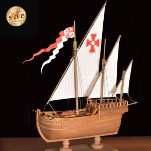 1. lépés Kalózhajó hajómakett építőkészlet Gyerek kitt