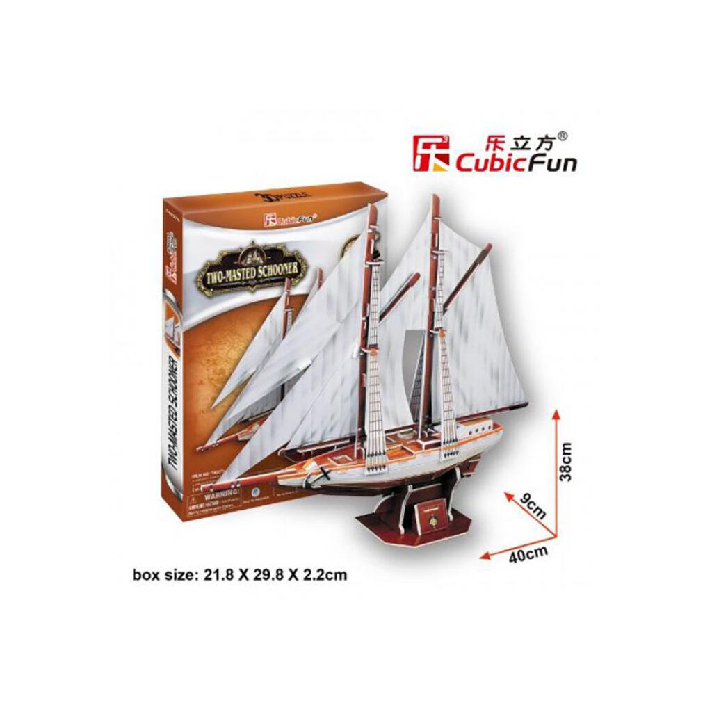 Kétárbocos schooner 3D puzzle 3D puzzle Cubicfun
