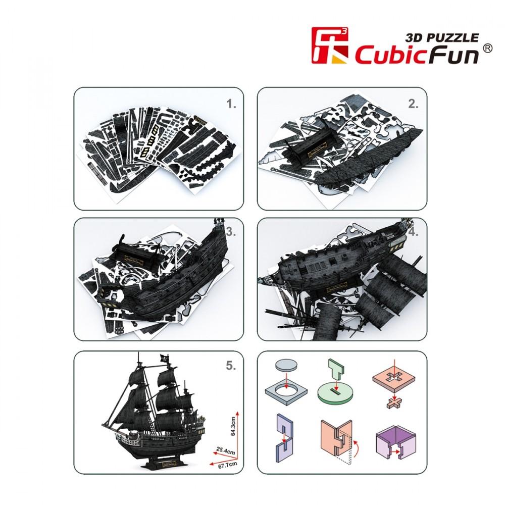 Queen Anne 3D puzzle 3D puzzle Cubicfun