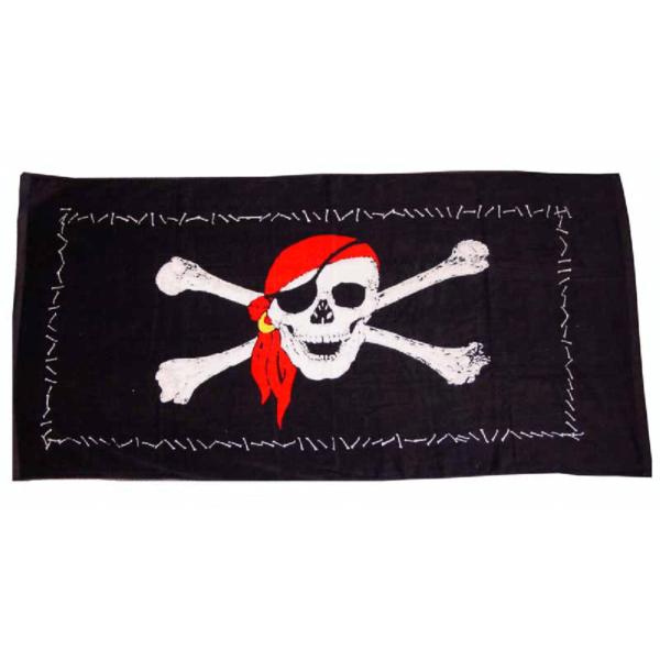 Kalóz zászlós strandtörölköző Hajós divat, ruházat