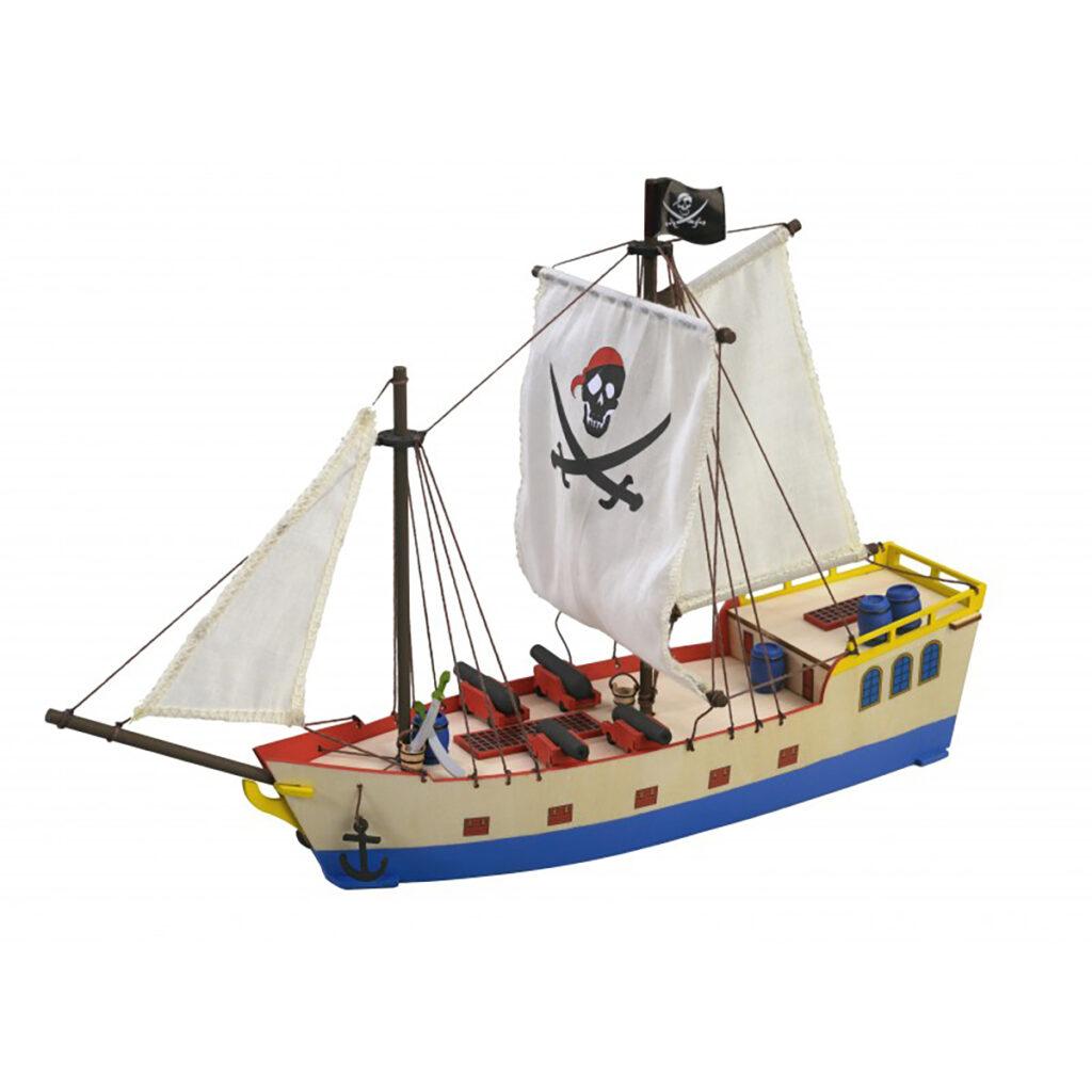 Kalóz hajómakett építőkészlet Gyerek kitt